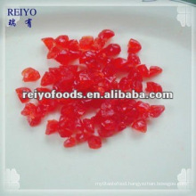 Dried red cherry dices